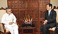 The Ambassador of Japan to India, Mr. Hideaki Domichi calls on the Union Minister for Road Transport and Highways, Dr. C.P. Joshi, in New Delhi on May 03, 2011.jpg