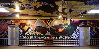 Robert Richard Hieronimus - Photograph of the Eagle wall (plus ceiling) at Dr. Bob Hieronimus' full-room Apocalypse Mural, located in Johns Hopkins University's Levering Hall.