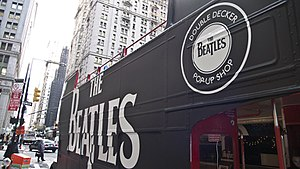 Pop-up retail - The Beatles double-decker pop-up shop in New York City