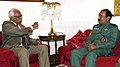The Chairman Chiefs of Staff Committee (COSC) and Chief of the Air Staff (CAS), Air Chief Marshal Arup Raha calling on the Governor of Jammu & Kashmir, Shri N.N. Vohra, in Srinagar on September 16, 2014.jpg