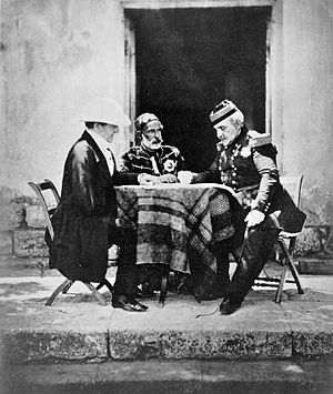 Omar Pasha - Lord Raglan, Omar Pasha and Marshal Pelissier during the Crimean War, 1854–1856, photographed by Roger Fenton.