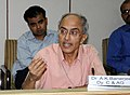The Dy. Comptroller and Auditor General, Dr. A.K. Banerjee briefing the press on the highlights of the CAG's Audit Reports, Revenue Audit Report and Railway Audit Report, in New Delhi on April 23, 2010.jpg
