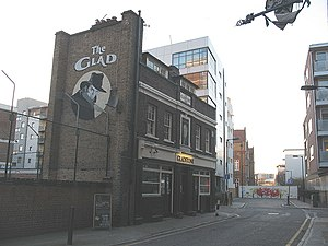 Lant Street - View of Lant Street and the Gladstone Arms