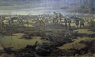 Christopher R. W. Nevinson - The Harvest of Battle (1918) (Art.IWM ART 1921)