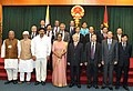 The Indian Parliamentary Delegation led by Speaker, Lok Sabha, Smt. Meira Kumar with the General Secretary of the Communist Party of Vietnam and Chairman of the National Assembly, Mr. Nguyen Phu Trong, in Ho Chi Minh City.jpg