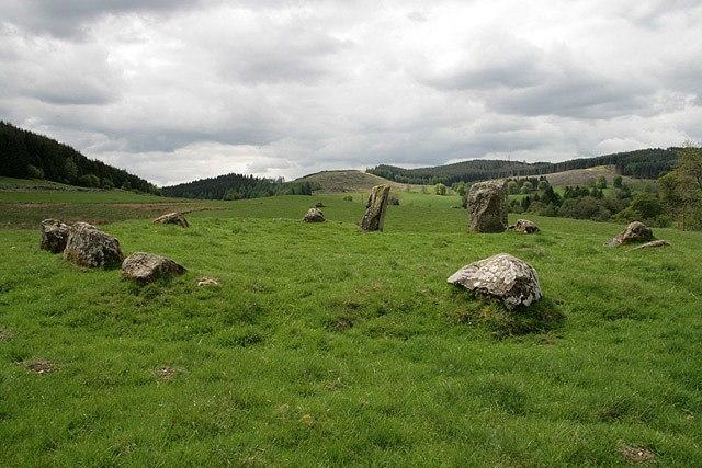 The Loupin' Stanes stone circle - geograph.org.uk - 811307