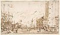 The Piazzetta, Looking Toward San Giorgio Maggiore (recto); Two Columns (verso) MET DP810422.jpg