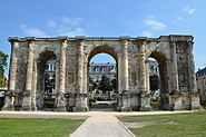 The Porte Mars, an ancient Roman triumphal arch in Reims dating from the 3rd century AD and the widest arch in the Roman world, Durocortorum (Reims, France) (9292412785)