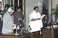 The President Dr.A.P.J.Abdul Kalam administering the Oath (Cabinet Minister) to Shri Vayalar Ravi, in New Delhi on January 29,2006.jpg