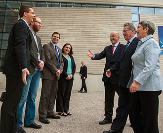 Heinz Fischer - Image: The President of Austria, Heinz Fischer is welcomed to ESO's premises in Santiago