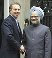 The Prime Minister Dr. Manmohan Singh with the British Prime Minister Mr. Tony Blair, in London on September 20, 2004.jpg