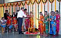 The US President, Mr. Barack Obama and the First Lady Mrs. Michelle Obama lighting the lamp to celebrate Diwali Festival with Holy Name School, in Mumbai on November 07, 2010.jpg