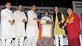 "The Union Home Minister, Shri Rajnath Singh presented the certificates at the ""International Buddha Poornima Diwas Celebration 2016"", in New Delhi.jpg"