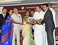 The Vice President, Shri M. Venkaiah Naidu presenting the awards, during the FIEO Southern Region Annual Awards Function, in Chennai on January 18, 2018. The Tamil Nadu Governor, Shri Banwarilal Purohit is also seen.jpg
