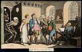 The dance of death; the insurance office. Coloured aquatint Wellcome V0041990.jpg