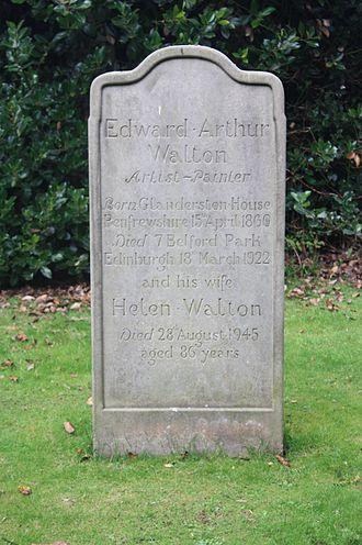 Edward Arthur Walton - The grave of Edward Arthur Walton, Dean Cemetery