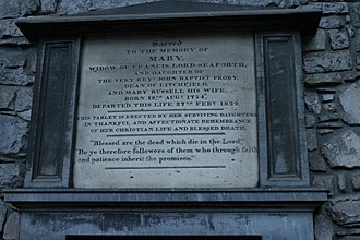 Francis Mackenzie, 1st Baron Seaforth - The grave of Mary Proby, Lady Seaforth, Holyrood Abbey