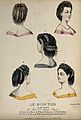 The heads and shoulders of five women with plaited and ringl Wellcome V0019884EL.jpg