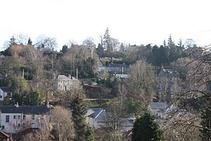 Lasswade - The houses on the southern side of the river in Lasswade