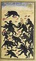 The monkeys outwitting the bears - Anvar-i Suhayli (1600-1601), f.124v - BL Or. 6317.jpg