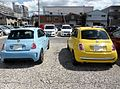 The rearview of FIAT 500 Pop & ABARTH 500.JPG