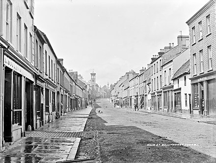 Main Street, Ballymoney, in the early 1900s The sunny side of the street (27510308900).jpg