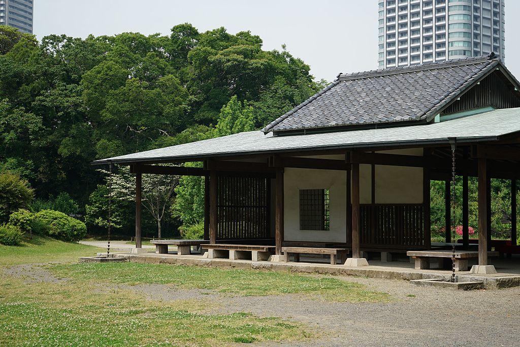 The tea-house in Hama-rikyu, Tokyo