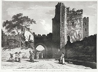 Robert Curthose - The tower in Cardiff Castle where Robert Curthose was confined for the final 8 years of his life