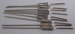 Thermal cutoff - An assortment of thermal fuses