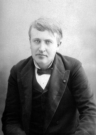 Edison Ore-Milling Company - Photograph of Thomas Edison by Victor Daireaux, Paris, c. 1880s