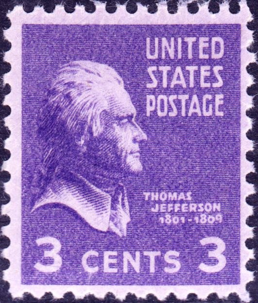 Thomas Jefferson 1938 Issue-3c