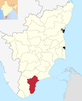 Localisation de District de Thoothukudi