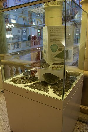 Thornbury Hoard - The Hoard on display at the Bristol City Museum and Art Gallery.