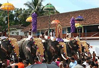 Temple elephant - Image: Thrippunithura Elephants 10 crop