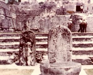 Two stelae on the North Acropolis in 1970