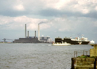 Tilbury power stations - Tilbury A and B stations in 1973