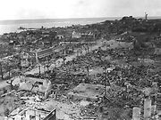 Tinian Town after destruction by US bombardment