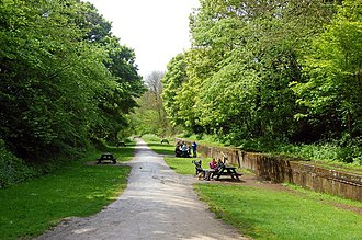 Tissington Trail - The trail at the site of the former Tissington station, now a picnic site