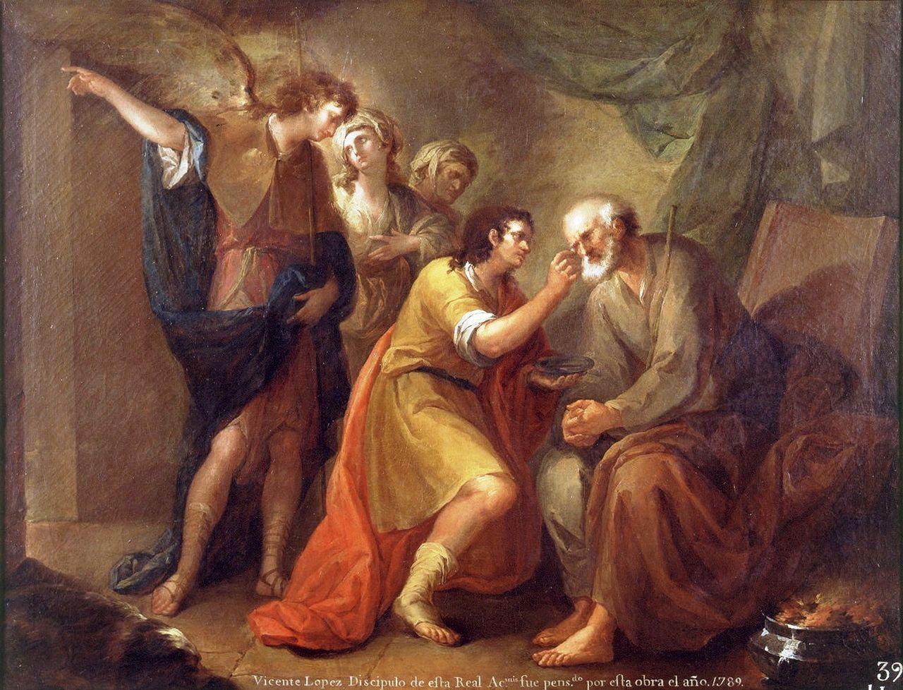 Tobнas curando a su padre (Museo de Bellas Artes de Valencia).jpg