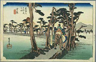 東海道五十三次 (浮世絵) ~吉原宿(保永堂版)- Wikipedia