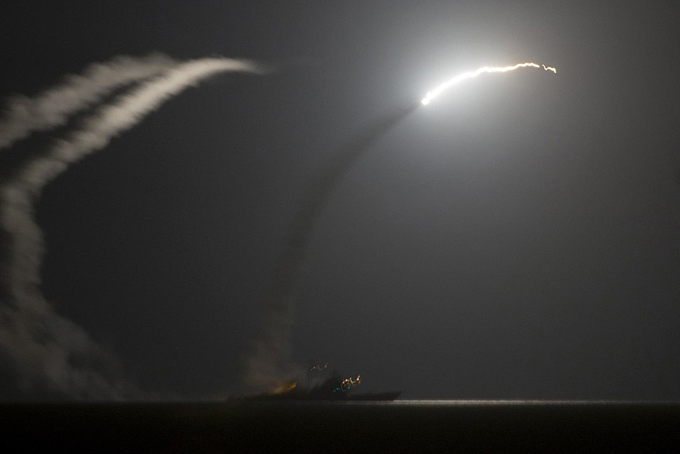 Tomahawk Missile fired from US Destroyers