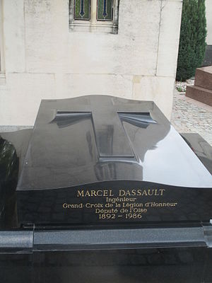 Marcel Dassault - Grave of Marcel Dassault in Paris.