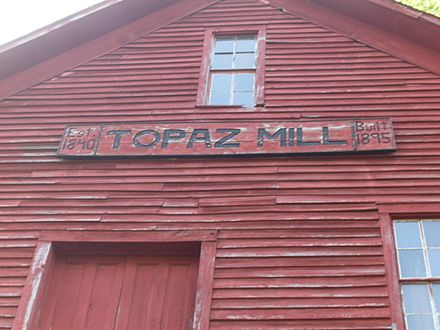 Sign on the old Topaz mill building Topaz mill sign.jpg