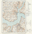 Topographic map of Norway, B32 vest Balestrand, 1964.jpg