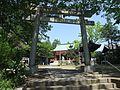 Torii (鳥居) at Rokusho Shrine (六所神社) - panoramio (1).jpg