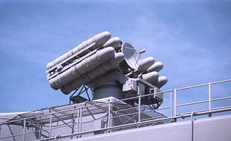 Crotale (missile) - Crotale R440 launchers aboard the frigate Tourville