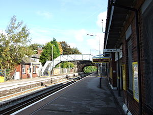Aughton, Lancashire - Image: Town Green railway station