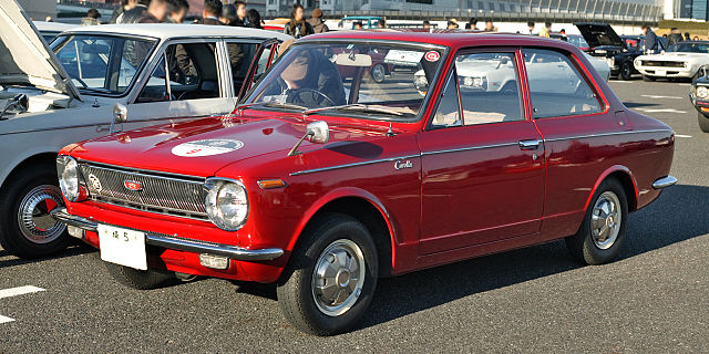 Red First Generation Corolla, TOYOTA COROLLA INTERNATIONAL SALES LEADER.