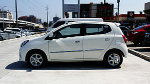 Daihatsu Ayla - Image: Toyota Wigo G Left Side