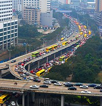 traffic congestion  rapid economic growth in has resulted in a massive increase in the number of private vehicles in its major cities shown here is a traffic jam